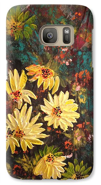 Galaxy Case featuring the painting Sunflowers by Sima Amid Wewetzer