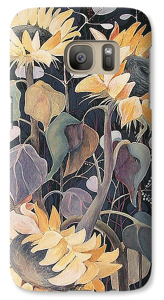 Galaxy Case featuring the painting Sunflowers' Symphony by Marina Gnetetsky