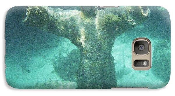 Galaxy Case featuring the photograph Sunken Savior by Robert ONeil