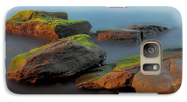 Galaxy Case featuring the photograph Sunkissed Rocks by Jacqui Boonstra