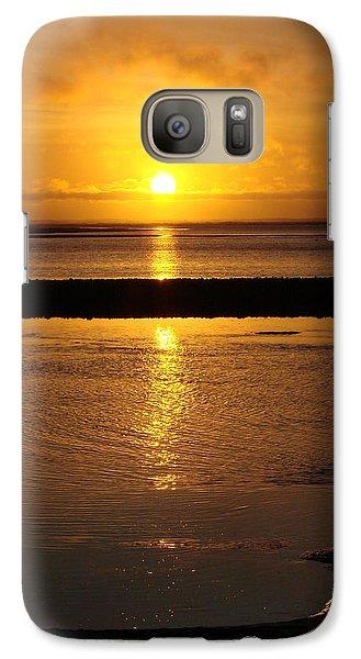 Galaxy Case featuring the photograph Sunkist Sunset by Athena Mckinzie