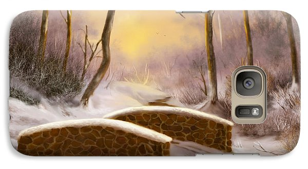 Galaxy Case featuring the painting Sunlight In Winter by Sena Wilson