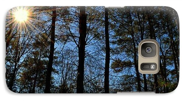 Galaxy Case featuring the photograph Sunlight Through Trees by Tara Potts