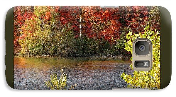 Galaxy Case featuring the photograph Sunlit Autumn by Ann Horn