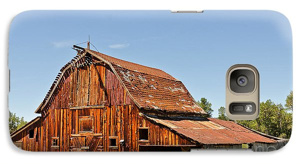 Galaxy Case featuring the photograph Sunlit Barn by Sue Smith