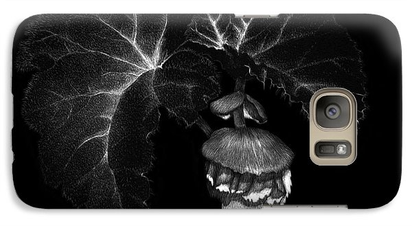 Galaxy Case featuring the drawing Sunlit Begonia by Sandra LaFaut
