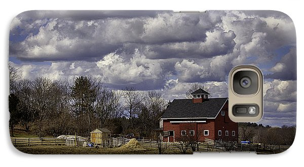 Galaxy Case featuring the photograph Sunlit Farm by Betty Denise