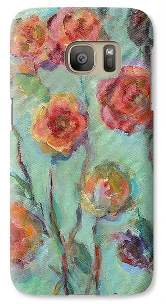 Galaxy Case featuring the painting Sunlit Garden by Mary Wolf
