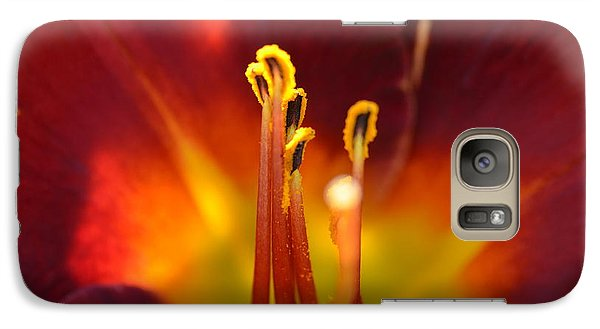 Galaxy Case featuring the photograph Sunlit Lily by David Porteus