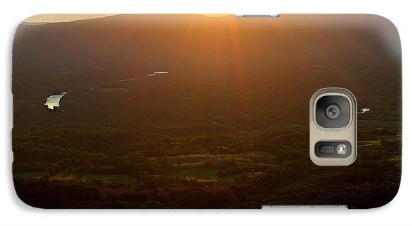 Galaxy Case featuring the photograph Sunlit Valley by Candice Trimble