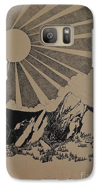 Galaxy Case featuring the drawing Sunny 300 Days A Year by Stuart Engel