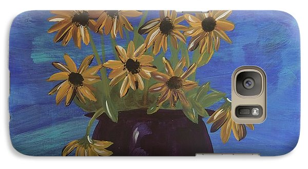 Galaxy Case featuring the painting Sunny Day Sunflowers by Tatum Chestnut