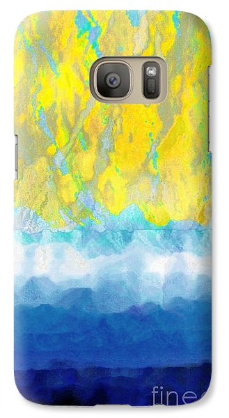 Galaxy Case featuring the digital art Sunny Day Waters by Darla Wood