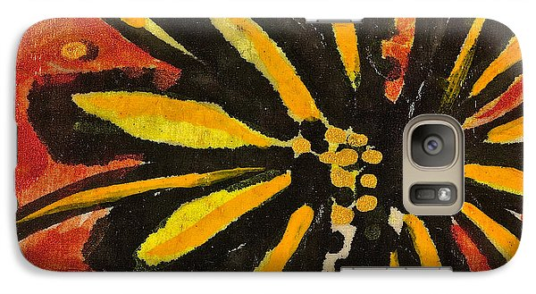 Galaxy Case featuring the painting Sunny Hues Watercolor by Joan Reese