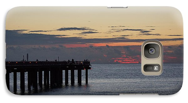 Galaxy Case featuring the photograph Sunny Isles Fishing Pier Sunrise by Rafael Salazar