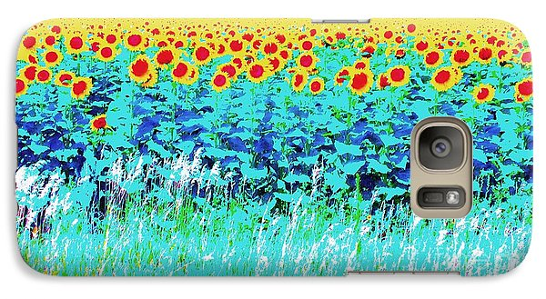 Galaxy Case featuring the photograph Sunny Kansas by Ann Johndro-Collins