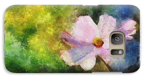 Galaxy Case featuring the painting Sunny Pink Cosmos by Arthaven Studios
