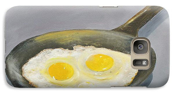 Galaxy Case featuring the painting Sunny Side by Ken Ahlering