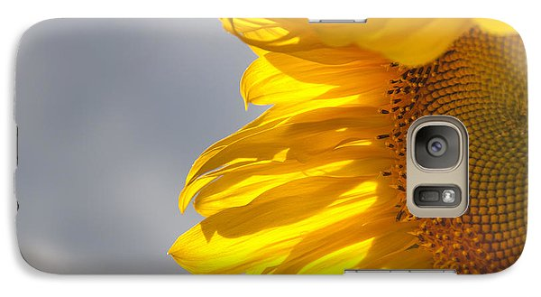 Galaxy Case featuring the photograph Sunny Sunflower by Cheryl Baxter