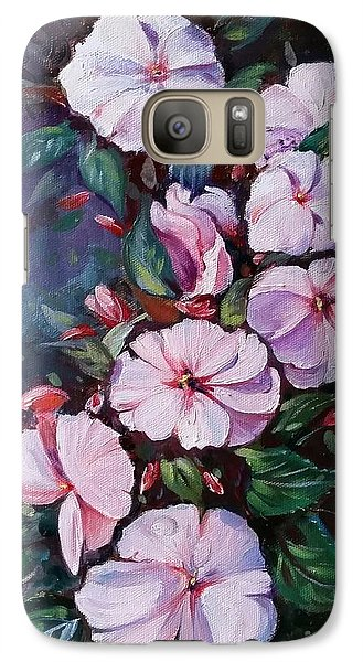 Galaxy Case featuring the painting Sunpatiens Flowers by Rose Wang