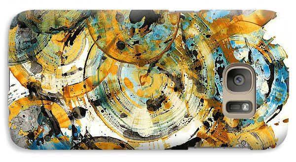 Galaxy Case featuring the painting Sunrise - 991.042212 by Kris Haas