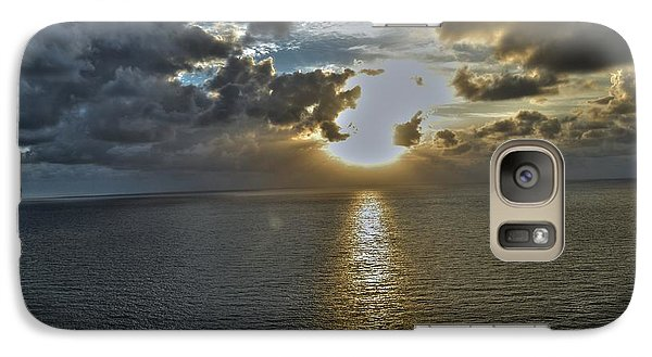 Galaxy Case featuring the photograph Sunrise Above Fort Lauderdale Beach Florida by Timothy Lowry