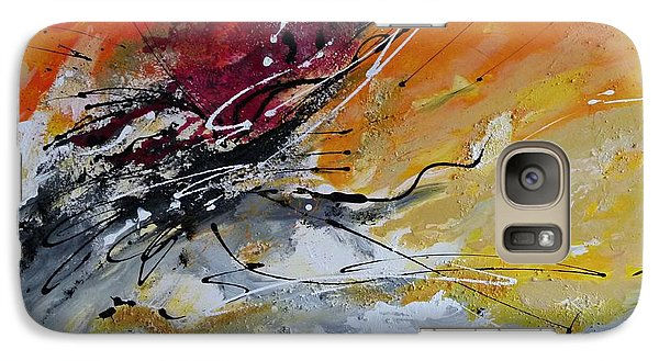 Galaxy Case featuring the painting Sunrise - Abstract Art by Ismeta Gruenwald