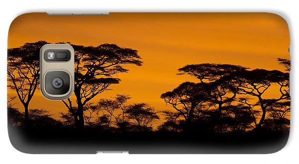 Galaxy Case featuring the photograph Sunrise Acacias  by Chris Scroggins
