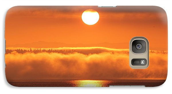 Galaxy Case featuring the photograph Sunrise And Fog by E Faithe Lester