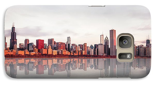 Sears Tower Galaxy S7 Case - Sunrise At Chicago by Marcin Kopczynski