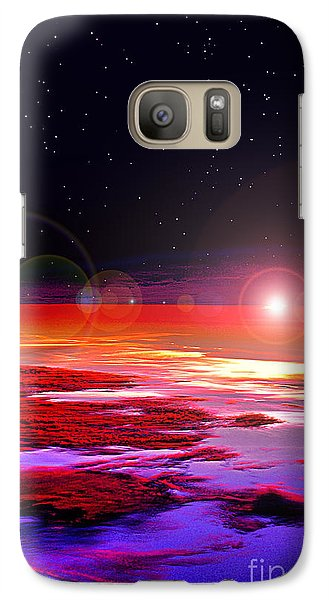 Galaxy Case featuring the photograph Sunrise At Fourty Thousand  by Adam Olsen