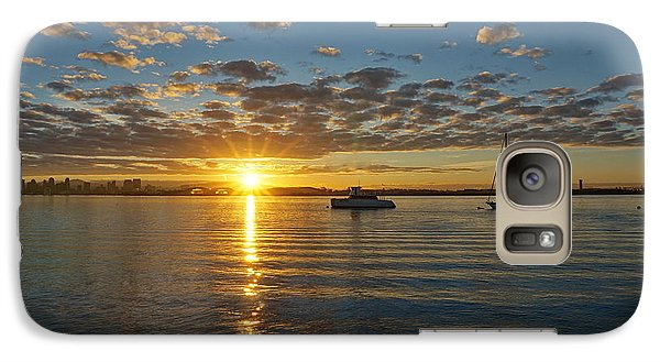 Galaxy Case featuring the photograph Sunrise At Shelter Island by Jeremy McKay