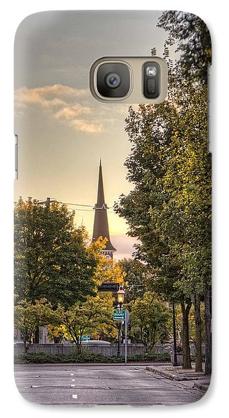 Galaxy Case featuring the photograph Sunrise At The End Of The Street by Daniel Sheldon
