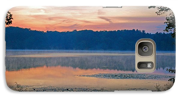 Galaxy Case featuring the photograph Sunrise At The Lake by Lila Fisher-Wenzel