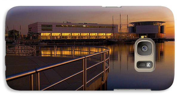 Galaxy Case featuring the photograph Sunrise At The Lakefront by Jonah  Anderson