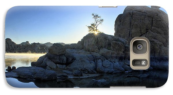 Galaxy Case featuring the photograph Sunrise At Watson Lake by Dan Myers