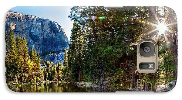 Yosemite National Park Galaxy S7 Case - Sunrise At Yosemite by Az Jackson