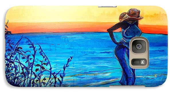 Galaxy Case featuring the painting Sunrise Blues by Ecinja Art Works