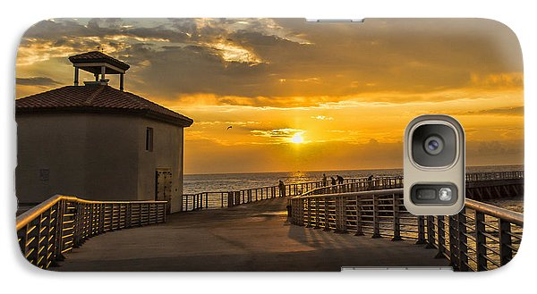 Galaxy Case featuring the photograph Sunrise Boynton Beach Jetty by Don Durfee