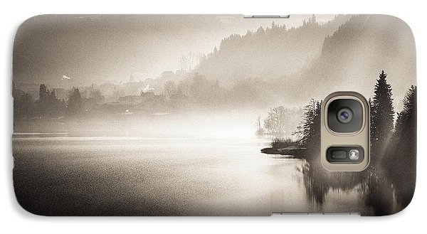 Galaxy Case featuring the photograph Sunrise By The Lake by Maciej Markiewicz