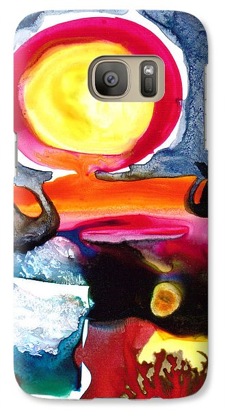 Galaxy Case featuring the painting Sunrise by Catherine Redmayne