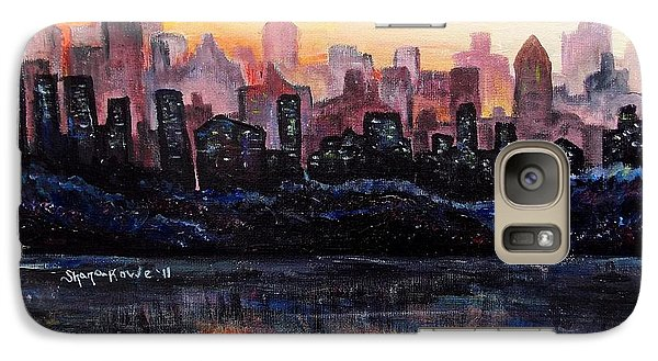 Galaxy Case featuring the painting Sunrise City by Shana Rowe Jackson