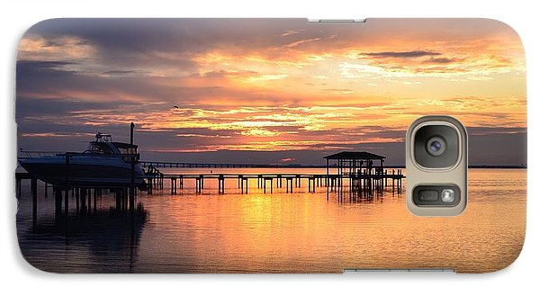 Galaxy Case featuring the photograph Sunrise Colors On The Sound by Jeff at JSJ Photography