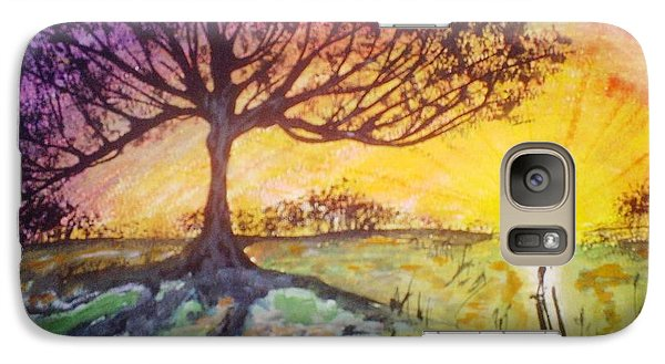 Galaxy Case featuring the painting Sunrise by Douglas Beatenhead