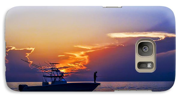Galaxy Case featuring the photograph Sunrise Fishing by Don Durfee