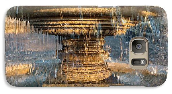 Galaxy Case featuring the photograph Sunrise Fountain by Glenn DiPaola