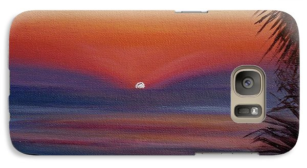 Galaxy Case featuring the painting Sunrise Glow by Donna Tuten