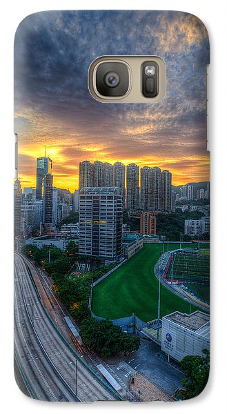 Galaxy Case featuring the photograph Sunrise In Hong Kong by Mike Lee