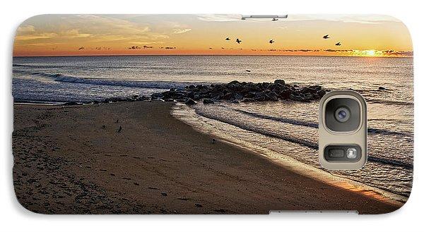 Galaxy Case featuring the photograph Sunrise In Ocean Grove by Debra Fedchin
