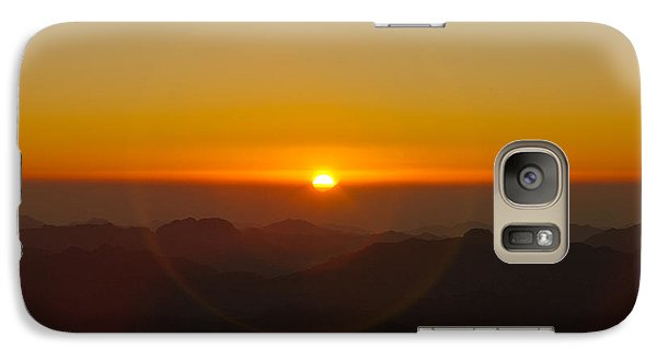 Galaxy Case featuring the pyrography Sunrise In Sinai Mountains by Julis Simo